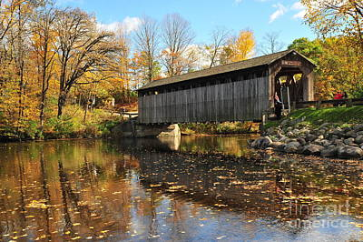 Country Road Photograph - Fallasburg Covered Bridge 4 by Terri Gostola