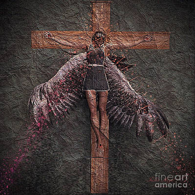 Mixed Media - Fallen Angel #2 by Barbara Milton