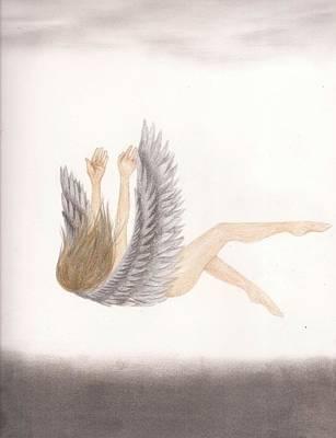 Falling angel drawings fine art america falling angel drawing fallen angel by fay trent altavistaventures Choice Image