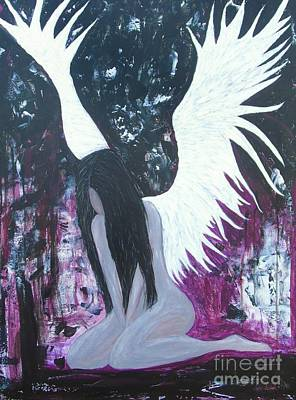 Painting - Fallen Angel by Jessie Art