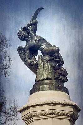 Fallen Angel Madrid Spain Art Print by Joan Carroll