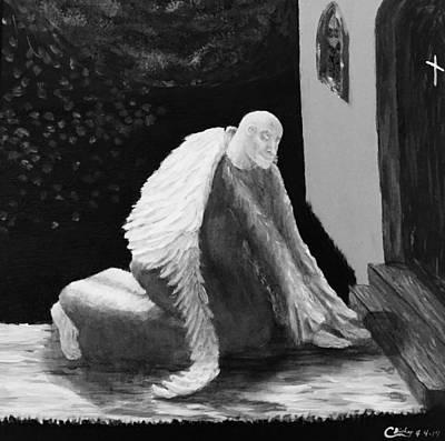 Fallen Angel Noir  Art Print