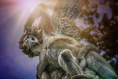 Madrid Wall Art - Photograph - Fallen Angel Retiro Park Madrid  by Carol Japp