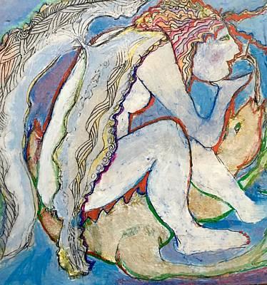Wall Art - Painting - Fallen Angel by Rosalinde Reece