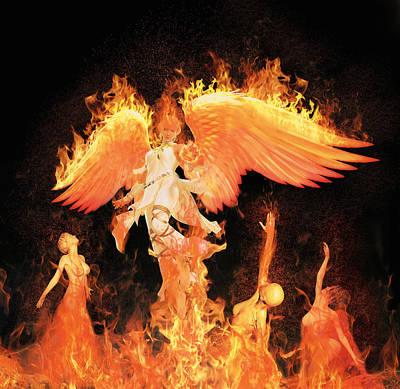 Mixed Media - Fallen Angel by Solomon Barroa