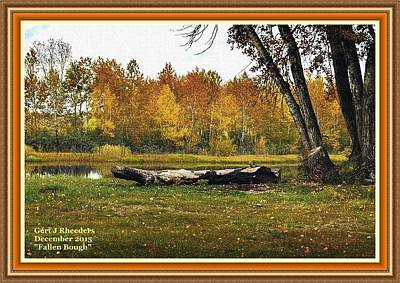 Achieving - Fallen Bough H A With Decorative Ornate Printed Frame. by Gert J Rheeders