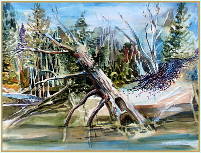 Drawing - Fallen By The Rivers Edge by Mindy Newman