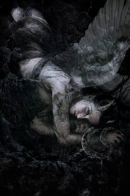 Angels Digital Art - Fallen by Cambion Art