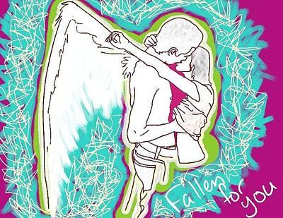 Fallen For You Art Print by M Blaze Wolenski