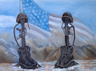 Digital Art - Fallen Heroes by Lee Hood