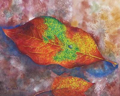 Painting - Leaf Exclamation by Barb Toland