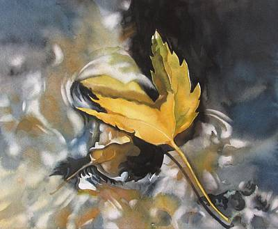 Painting - Fallen Leaf In Water by Alfred Ng