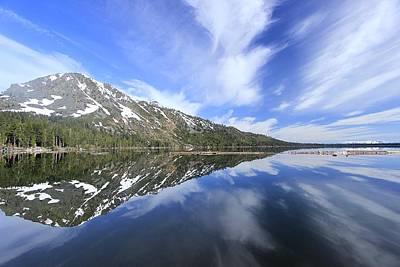 Photograph - Fallen Leaf Lake Mirror by Sean Sarsfield