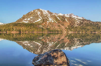 Photograph - Fallen Leaf Lake Reflection by Marc Crumpler