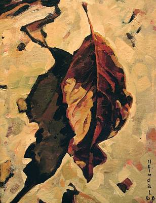 Art Print featuring the painting Fallen Leaf by Tim  Heimdal