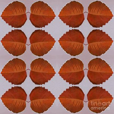 Digital Art - Fallen Leaves Arrangement by Helena Tiainen
