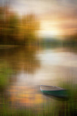 Photograph - Fallen Leaves At Dawn Dreamscape by Debra and Dave Vanderlaan