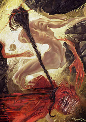 Fallen Queen IIi - Grudge Art Print by Alejandro Dini