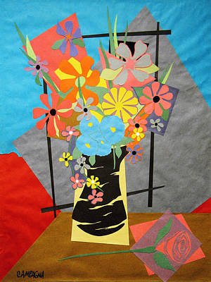 Fallen Rose     Art Print by Teddy Campagna