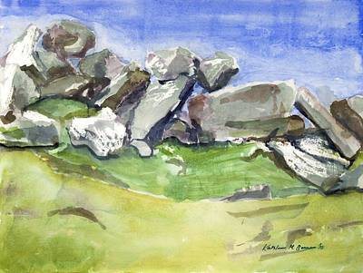 Painting - Fallen Stones by Kathleen Barnes