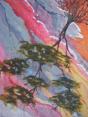 Fallen Tree Abstract Original