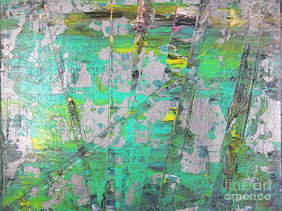 Lino Painting - Fallen Tree by Susan Parsley