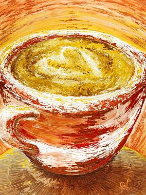 Espresso Painting - Fallin' In Love At A Coffeeshop by Seth Murphree