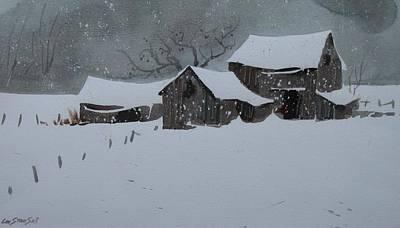 Fallin Snow Original by Len Stomski