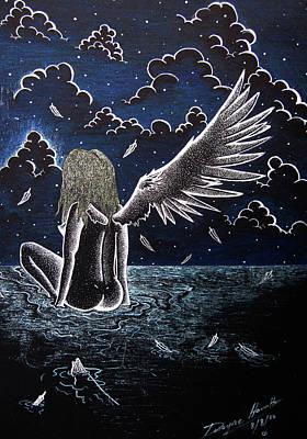 Falling Angel Art Print by Dwayne  Hamilton