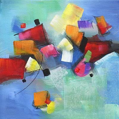 Multi Colored Painting - Falling Blocks 2 by Karen Hale