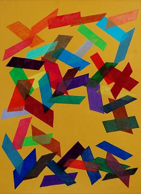 Mixed Media - Falling by Charla Van Vlack