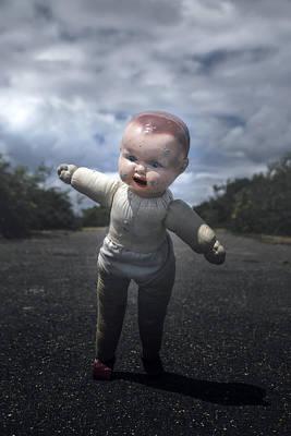 Asphalt Photograph - Falling Doll by Joana Kruse