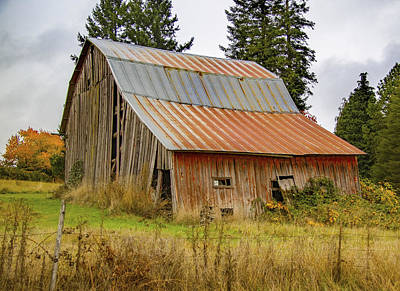 Photograph - Falling Down Barn by Jean Noren