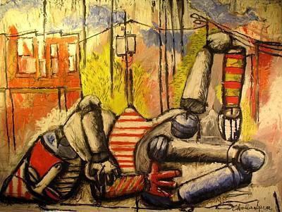 Falling Down Man Sold Art Print