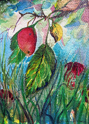 Falling Fruit Art Print by Mindy Newman