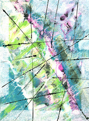 Mixed Media - Falling Further In by Cyndi Lavin