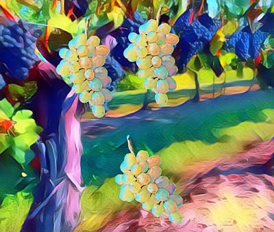 Digital Art - Falling Grapes by Gayle Price Thomas