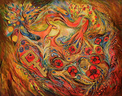 Kabbala Painting - Falling In Love by Elena Kotliarker