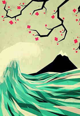 Waves Digital Art - Falling In Love by Yetiland