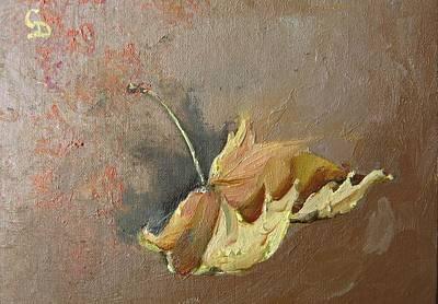 Painting - Falling Leaf1 by Grace Diehl