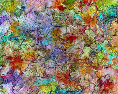 Painting - Falling Leaves  by Janet Immordino