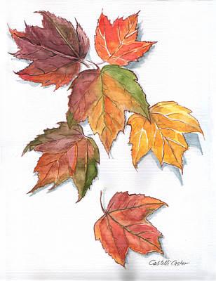 Painting - Falling Leaves by JoAnne Castelli-Castor