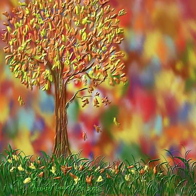 Painting - Falling Leaves by Kevin Caudill