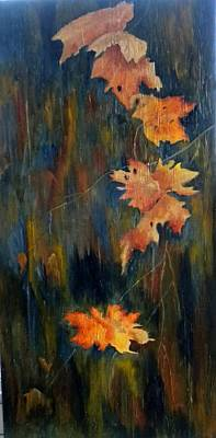 Painting - Falling Leaves by Marti Idlet