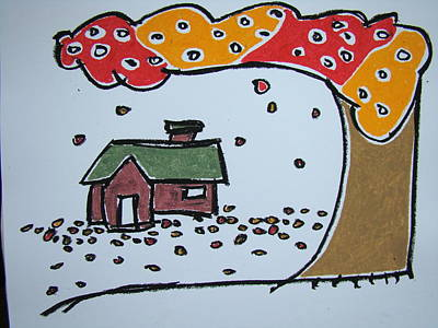 Falling Leaves Art Print by Pat  Lackenbauer
