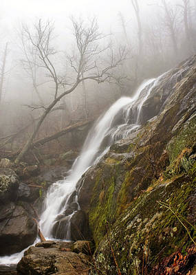 Print featuring the photograph Falling Mist by Alan Raasch