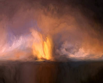 Color Mixed Media - Falling Mist by Lonnie Christopher