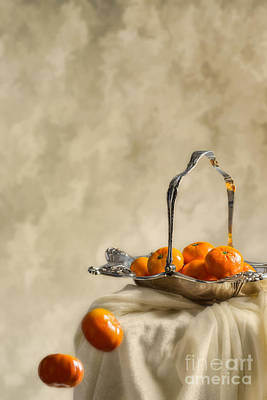 Silver-filled Photograph - Falling Oranges by Amanda Elwell