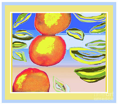 Photograph - Falling Oranges by Shirley Moravec