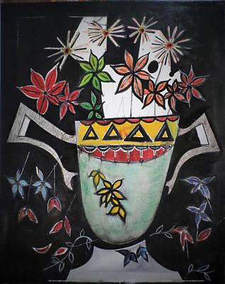 Painting - Falling Petals by Adalardo Nunciato  Santiago